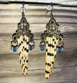 Brass Filigree with Blue Beads